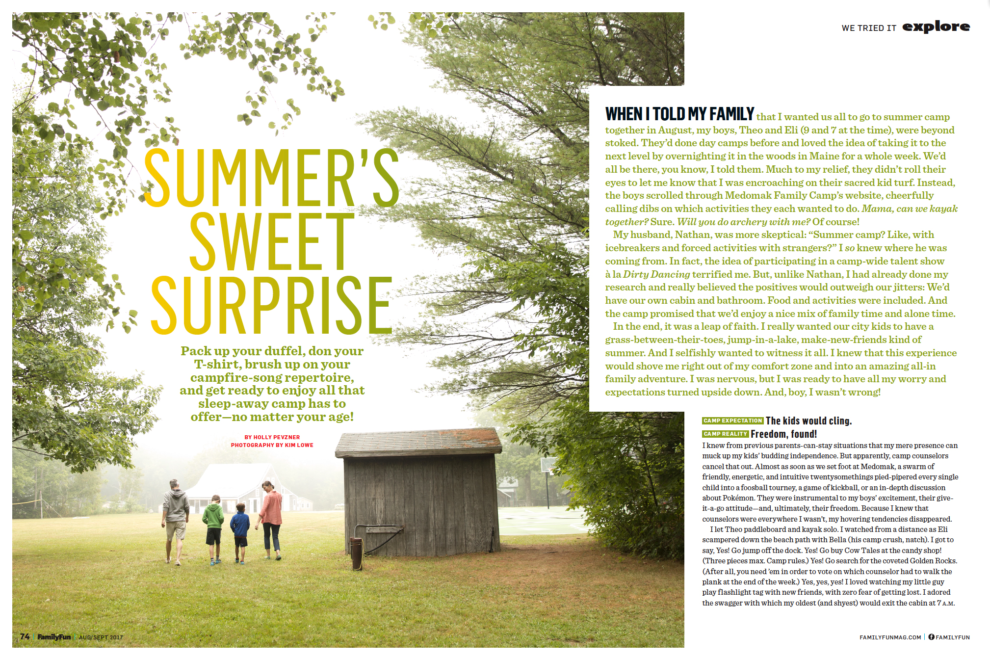 PHOTOGRAPHER  | PARENTS | FAMILY FUN MAGAZINE  | MAINE  | Content Creator | Medomak Family Camp